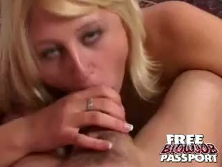 Platinum Blonde Honey Stacy Thorn Sucking A Giant Penis