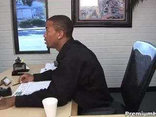 Slutty ebony delivery babe michelle malone welcomes monster cock