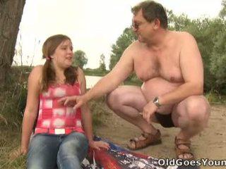 Celine touches suaugę vyras varpa kaip the profesionalus