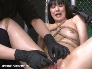 Japanisch mieze tortured von vibrators