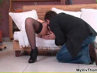Colette v seksi črno zapeljivo gets ji