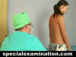 Unclothed 19 Year Old Honey Has Checked Up By A Doctor.