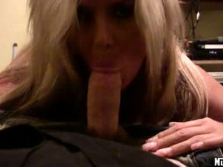 Hot Blonde Babe Phoenix Marie Receives Her Mouth All Hooked Up On A Fat Pecker
