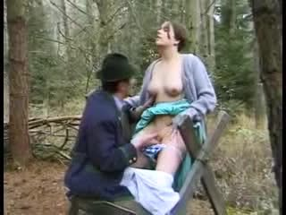 Old man and young guy fuck a pretty girl