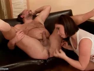 Grandpa and naughty bitch pissing and fucking