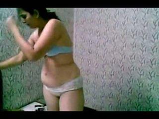 Sheepish Indian Slut Undressing Uncovered