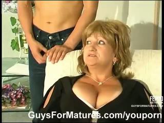 big tits, german, moms and boys