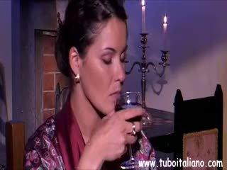 brunette, blowjob, mature, italian