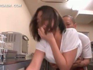 Big titted jepang getting atos bayan at work