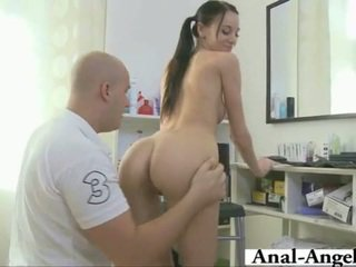Sweet pig taile brunette takes big cock.
