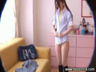 brunette online, full japanese, uniform hq