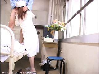 voyeur, sjuksköterskor, naken, asiatisk