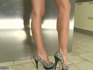 Erica Fontes showing off her pretty feet