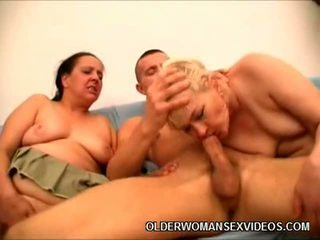 Excited Matures Sharing A Cock