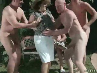 pissing, granny, fetish
