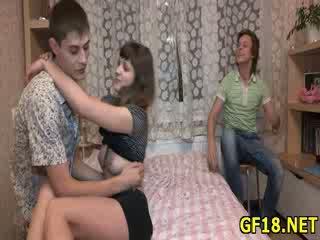 ו - לאחר מכן fellow takes שלו dong את של שלה loving hole