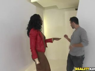 Ebony model Nyomi Banxxx picked up and fucking