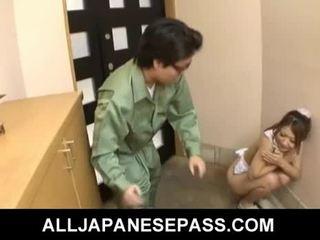 Gorące młody japońskie laska hibiki ohtsuki gives robienie loda