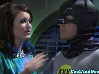 Tori Black banged in threesome by Batman and
