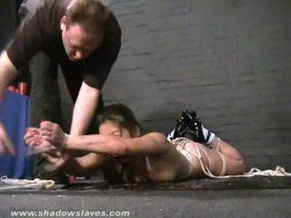 Asian water suspension bondage and Kokos teen bdsm