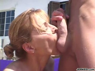 Sensually Hot Milf Nicole Moore Stuffs Her Warm Mouth With An Amazing Hard Cock