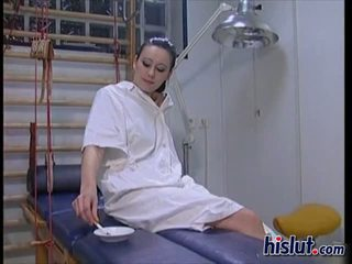 Illona gets to work on the doctors cock