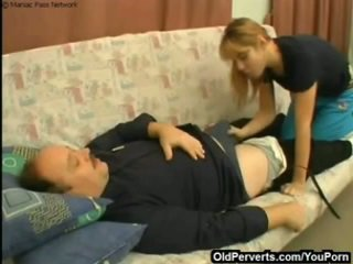 Taking care of sick man's cock