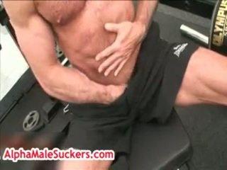 Aged Hunk Antonio Cavalli Mastubating In Gym 3 By Alphamalesuckers