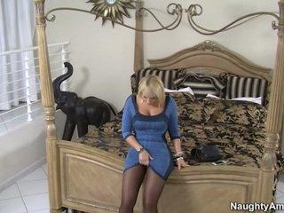 Oustanding Rack Blonde Female Mellanie Monroe Stockings