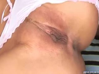 Cute Blonde Receive Her Love Tunnel And Ass Drilled By 3 Black Dudes !