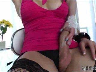 Awesome shemale honeys Aly Sinclair and Eva Lin have bareback sex