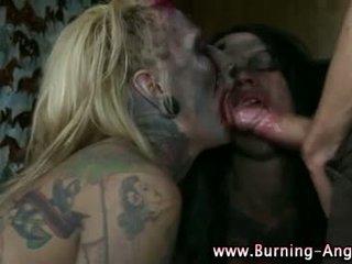 Emo punk rocking fetisch zombie sluts