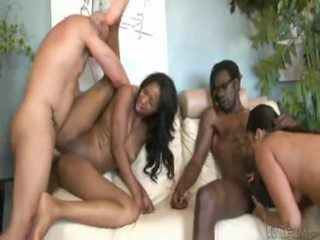 Hot Hot And Horny Swinger Couples Fucking Side By Side !