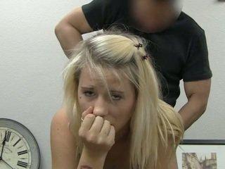 Ania taking facial cumshot
