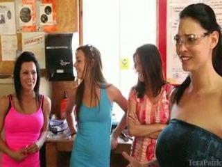 The Females Having A Full Day Of Activity Around Tera Patrick.