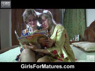 Leonora と nora 老人 lezbo mov