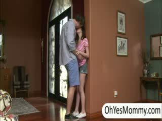 Victoria with boyfriend gets caught by naughty step mom Alexandra