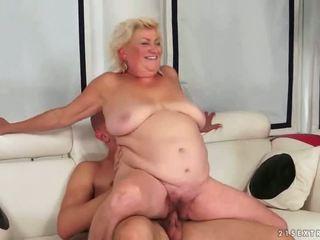 stary, babcia, obciąganie, tłuszcz