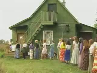 Възрастни жени чукане в на страна