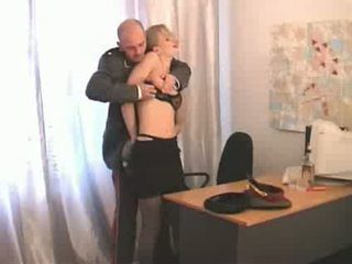 Russian superior officer abusing lower ranked girl soldier Video