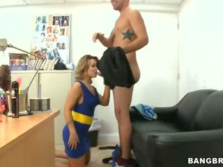 Sexy barmaid Marie Getty analed for cash