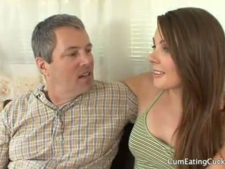 Cali gets her hubby to watch a real jago fuck her