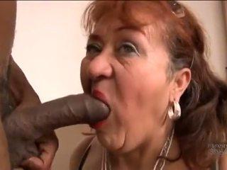 Picked ylös vanha espanjalainen mummo varten screwing pleasures