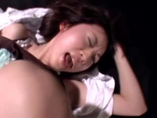 Worn out worthless asian gets toy treatment