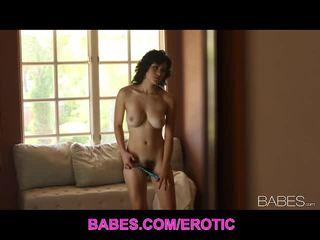 brünette, große brüste, striptease