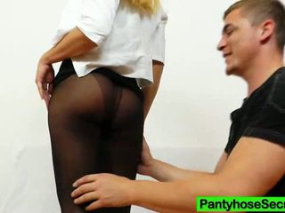 Piss Hole Penetrating While Wearing Hose