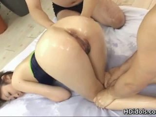 Cute Japanese Girl Having Fun With Two