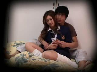 Spycam หนุ่ม เด็กนักเรียนหญิง seduced