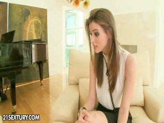 brunetka, całowanie, lizanie cipki