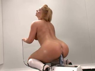 Luscious Katja Kassin Has Toyed In Both Tunnels By A Machine